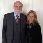 Internet Pioneer Vinton G. Cerf with Undiagnosed: Medical Refugees Creator and Co-director Dr. Katia Moritz at Future in Review 2014 (Photo: Business Wire)