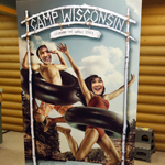 Wisconsin Tourism Secretary Stephanie Klett making a splash at Camp Wisconsin with brother, Benji Klett, at the Beloit Travel Wisconsin Welcome Center. (Photo: Business Wire)