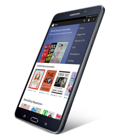 Samsung and Barnes & Noble Announce Partnership to Create Co-Branded Tablets; Samsung Galaxy Tab 4 NOOK. New Tablet combines leading Samsung tablet technology with Award-winning NOOK reading technology. (Photo: Business Wire)