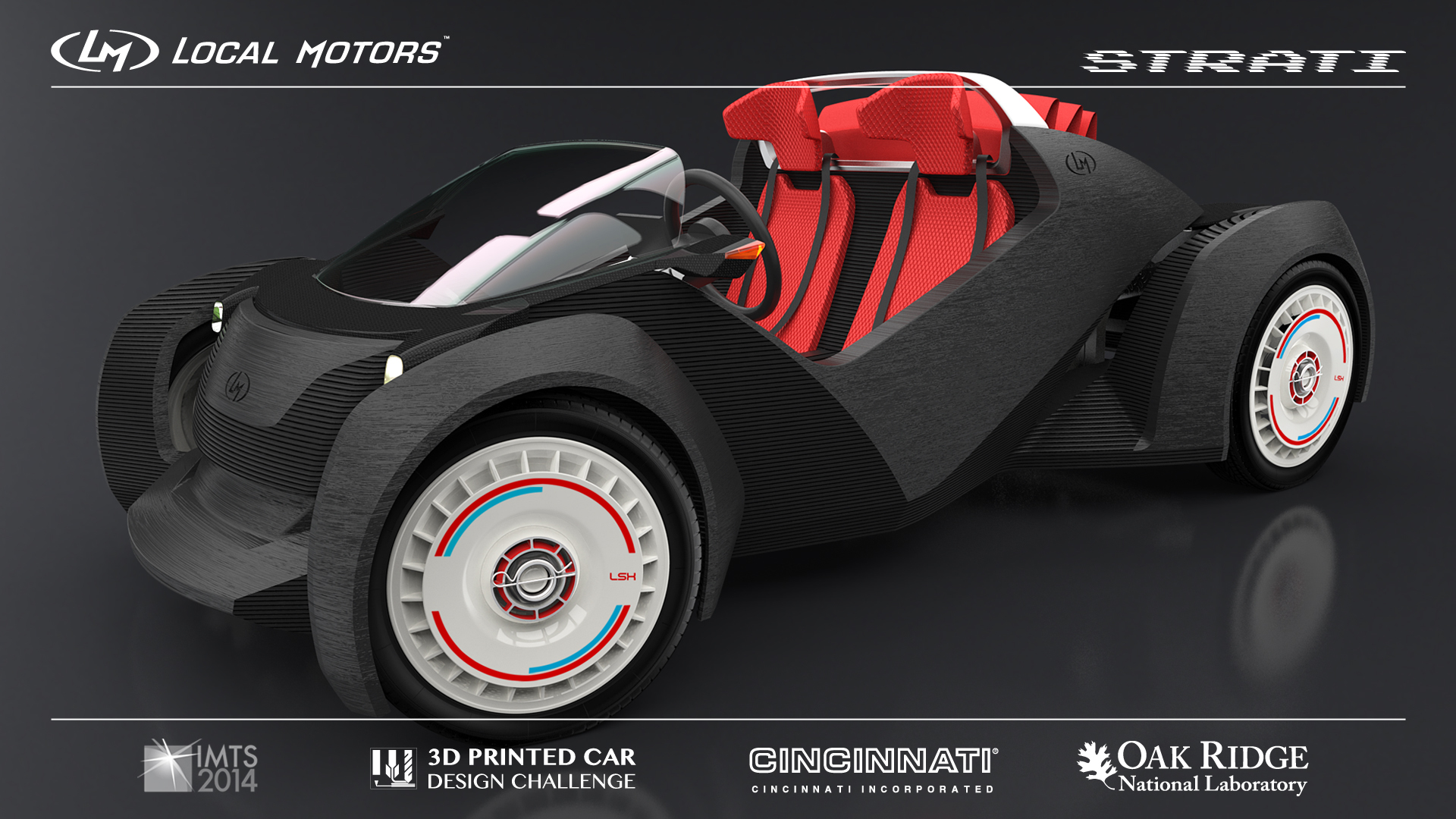 Winning design concept - Strati - from the Local Motors 3D Printed Car Design Challenge. Created by Michele Anoe from Turin, Italy. (Photo: Business Wire)