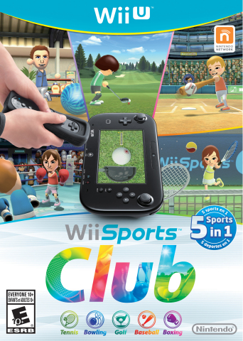With Wii Sports Club, the millions of people who fell in love with Wii Sports can now hop off their couches and get active with new versions of the five original classic sports - Tennis, Bowling, Golf, Baseball and Boxing - enhanced with online multiplayer and optimized for play with the Wii U GamePad controller. (Photo: Business Wire)