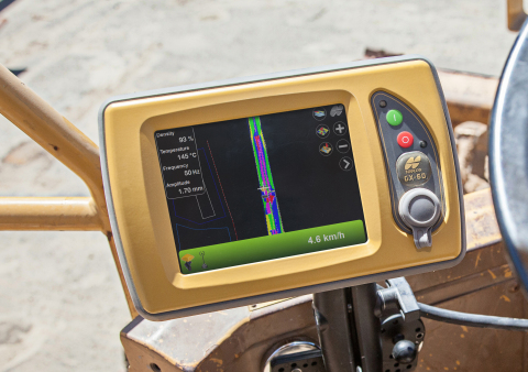 The Topcon C-63 system is designed to track precise compaction with minimal equipment operation. (Photo: Business Wire)