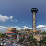 "Rendering of World's Tallest Rollercoaster and Entertainment Complex ""The Skyscraper™ at SKYPLEX™"" Coming to the Orlando Skyline in 2016. (Photo: Business Wire)"