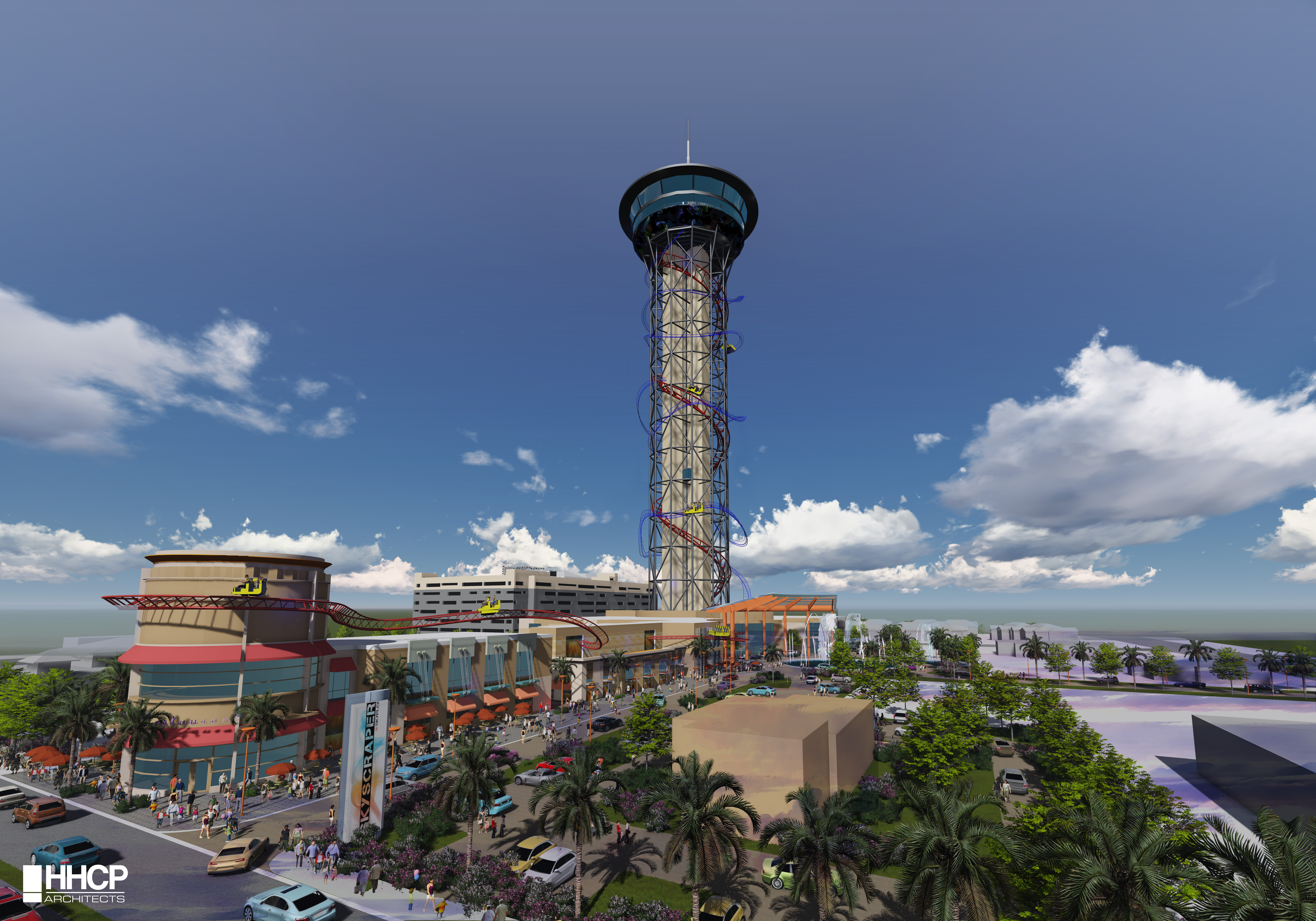 """Rendering of World's Tallest Rollercoaster and Entertainment Complex """"The Skyscraper™ at SKYPLEX™"""" Coming to the Orlando Skyline in 2016. (Photo: Business Wire)"""