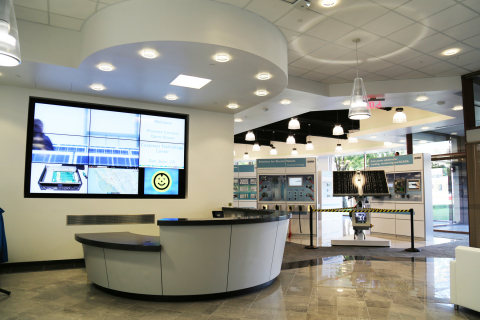 Reception area of Phoenix Contact's new Customer Technology Center in San Jose, California. (Photo: Business Wire)