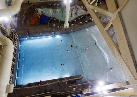 Great Wolf Lodge New England has 68,000 square feet of indoor waterpark that contains 300,000 gallons of water. (Photo: Business Wire)