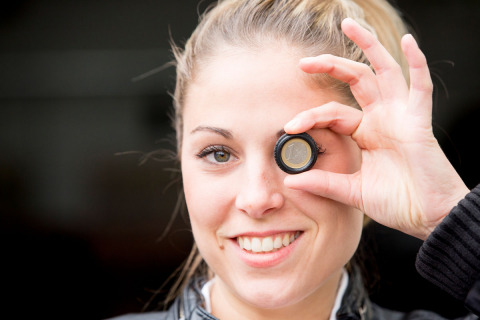 The simplest way to check to tyre tread - take 1 Euro coin. If you can see the gold brim out of the tread, for safety reasons you should think of replacing your tyres. (Photo: Business Wire)
