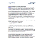 ELOCTATE™ [Antihemophilic Factor (Recombinant), Fc Fusion Protein] fact sheet