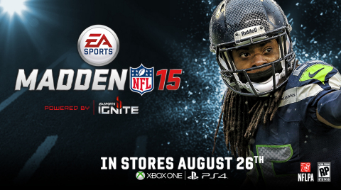 Richard Sherman announced as Madden NFL 15 cover athlete (Graphic: Business Wire)