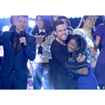 (l-r) Jorge Bernal, Prince Royce, Amanda Mena (Photo: Business Wire)