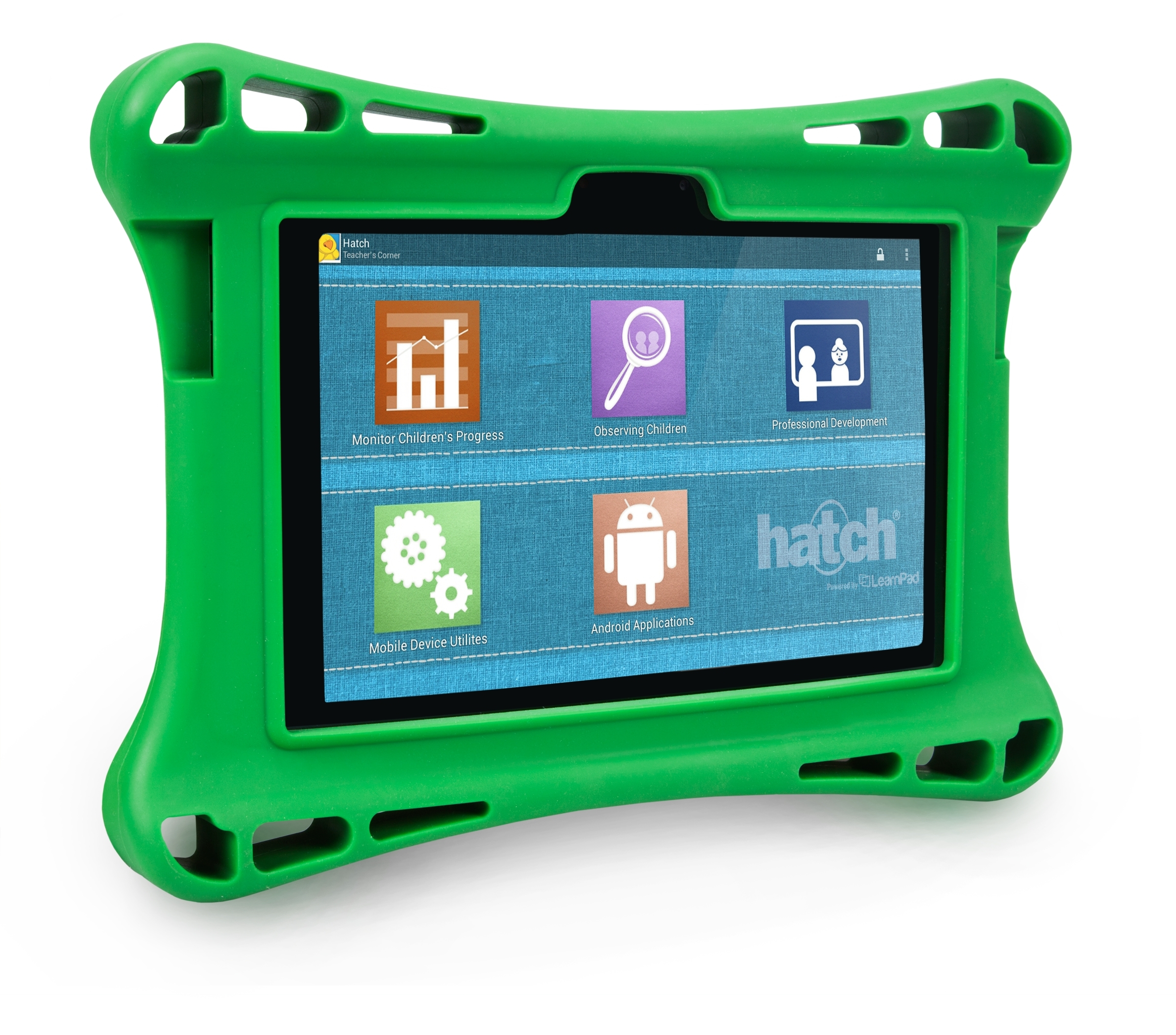 """Among the iStartSmart 4.0 updates is the addition of a QR Code reader that allows Hatch to create custom tablet environments. Shown here is the """"Teacher's Corner"""" where child progress data is accessed. (Photo: Business Wire)"""