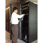 Hydrogen Fuel Cell Rack In The Data Center (Photo: Business Wire)