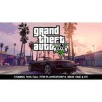 Rockstar Games® is proud to announce that the critically acclaimed and record-breaking Grand Theft Auto V® is coming this fall to the PlayStation®4 computer entertainment system, Xbox One, the all-in-one games and entertainment system from Microsoft and PC. (Graphic: Business Wire)