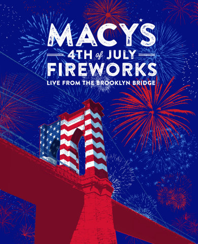 The 38th Annual Macy's 4th of July Fireworks light up Independence Day with the nation's largest pyrotechnic display - Live from the Brooklyn Bridge (Graphic: Business Wire)