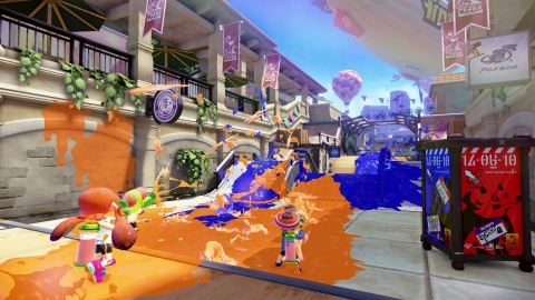 Splatoon is a four-on-four multiplayer action game that drops players into a battle arena that two teams strive to claim as their own. (Photo: Business Wire)