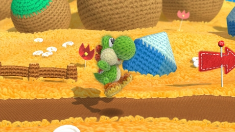 Yoshi's Woolly World, planned for the first half of 2015, is filled with rich textiles like felt, yarn and cotton that look good enough to touch. (Photo: Business Wire)