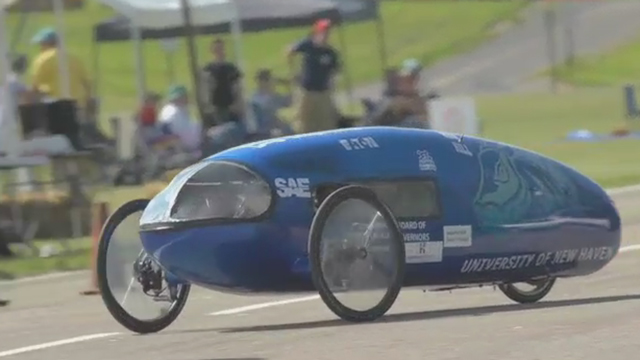 """""""Supermileage"""" College Teams Top 1,000 Miles per Gallon at Eaton's Proving Grounds in Marshall, Michigan"""