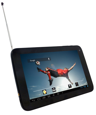 Watch all the World Cup action anywhere using the new line of Polaroid digital TV tablets available at retailers in Mexico (Photo: Business Wire)