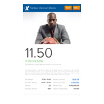 At the time of launch, individuals will be able to use Fantex Mobile to buy and sell shares of Fantex Vernon Davis, the first stock that is trading on Fantex.com. (Photo: Business Wire)