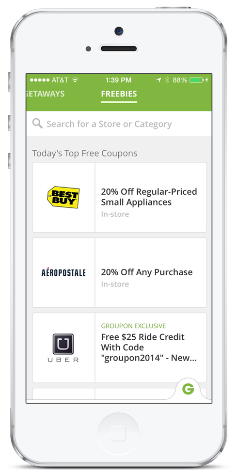Groupon Brings Freebies to iOS Devices, Creating the Most