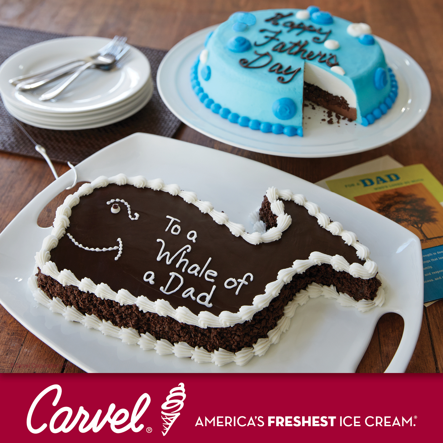 cookie puss cake carvel celebrates dads with iconic fudgie the whale 3040
