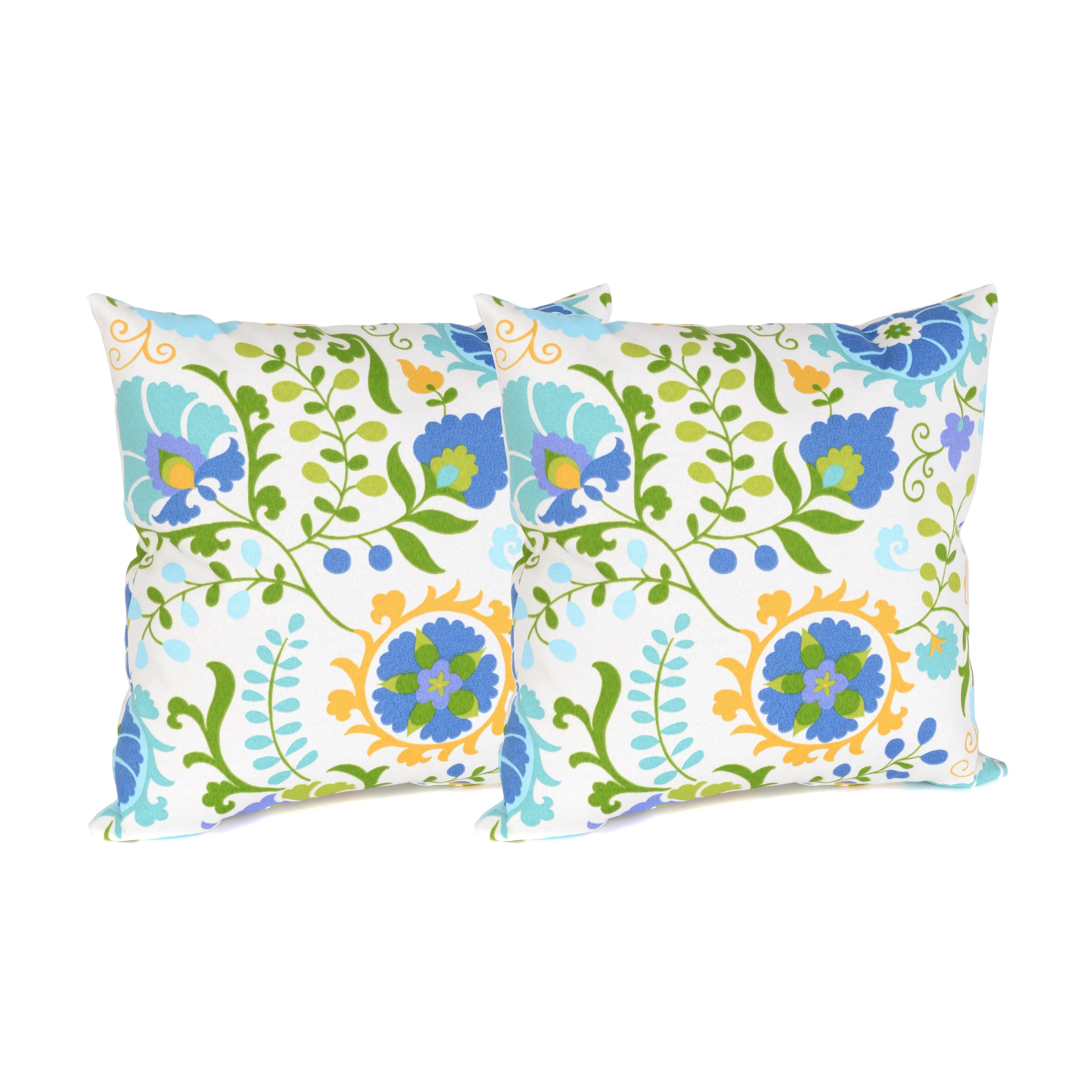 Decorating a wicker bench with Opal Bloom Outdoor Accent Pillows is an effortless way to jazz up the patio. Available online for $29.99. (http://www.kirklands.com/product/Home-Decor/Patio-Decor/Outdoor-Cushions-Pillows/Opal-Bloom-Outdoor-Accent-Pillows-Set-of-2/pc/2284/c/2771/sc/2641/174304.uts) (Photo: Business Wire)