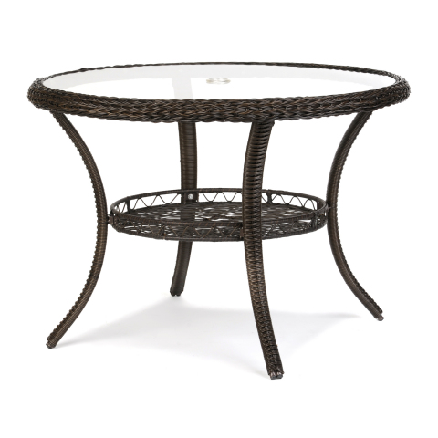 Replace your wooden patio ware with elegant wicker. This material can withstand the outdoors while maintaining its beauty. The Savannah Brown Wicker Dining Table is available online for $169.99. (http://www.kirklands.com/product/Shop-By-Room/Outdoor-Living/Savannah-Brown-Wicker-Dining-Table/pc/2329/c/2759/175196.uts) (Photo: Business Wire)