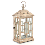 Set up lanterns around the porch for a trendy glow. The Antiqued White Lantern is available online for $19.99. (http://www.kirklands.com/product/Lighting/Lanterns/Antiqued-White-Lantern/pc/2286/c/2563/160382.uts) (Photo: Business Wire)