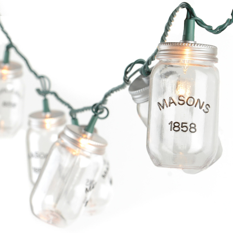 Repurpose those mason jars, and let them illuminate the yard. Mason Jar String Lights are available online and in stores for $14.99. (http://www.kirklands.com/product/Mason-Jar-String-Lights/176094.uts) (Photo: Business Wire)