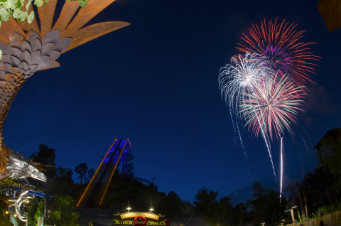 Dolly's Nights of Many Colors, a nightly fireworks spectacular, features synchronized music throughout Dollywood. The show, which includes a song written by Dolly Parton specifically for the occasion, begins each night at 9:30 p.m. (Photo: Business Wire)