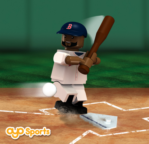 OYO Sportstoys minifigurine of Red Sox Player David Ortiz (Big Papi) (Graphic: Business Wire)