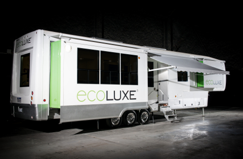 Louisiana-based Hollywood Trucks, the nation's fastest growing entertainment transportation provider, has announced the launch of Ecoluxe, the world's first line of luxury talent trailers fueled by 100 percent clean power. Photo Credit: Kelli Binnings