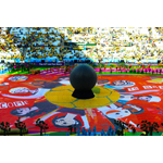 The Coca-Cola Happiness Flag on the pitch at Arena de Sao Paulo. (Photo: Business Wire)