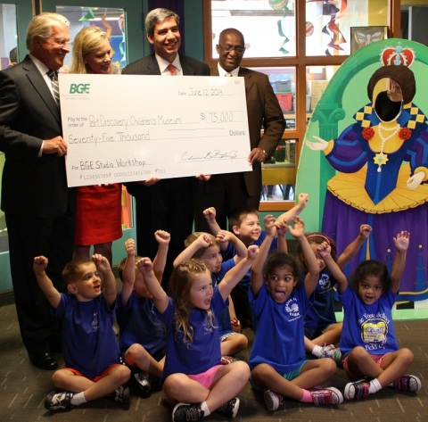 BGE today presented $75,000 to the Port Discovery Children's Museum, a three-year commitment, provid ...