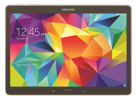 Galaxy Tab S - bronze 10.5 front (Photo: Business Wire)