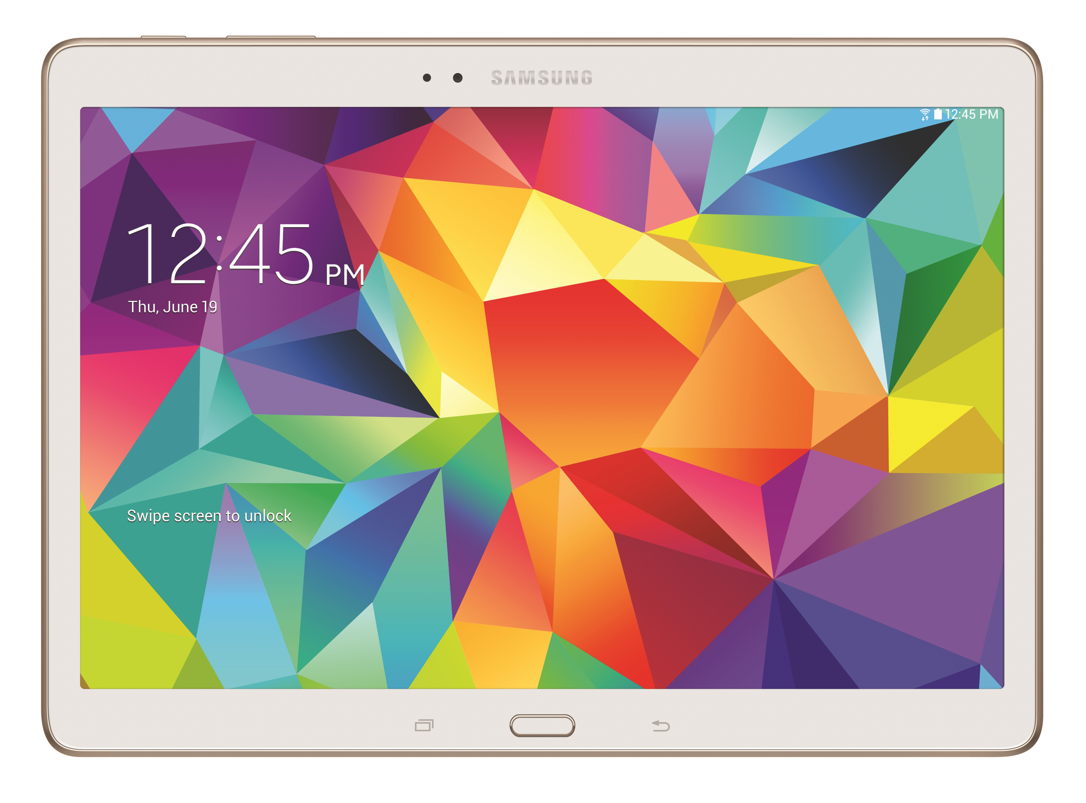 Galaxy Tab S - white 10.5 front (Photo: Business Wire)