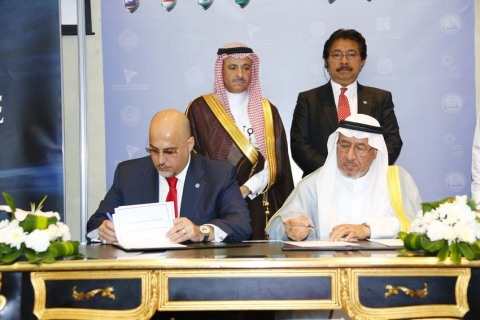 GCEL Co-Chairman, Captain Salloum, and ITFC CEO, Dr. Al-Wohaib, sign the strategic MOU witnessed by  ...