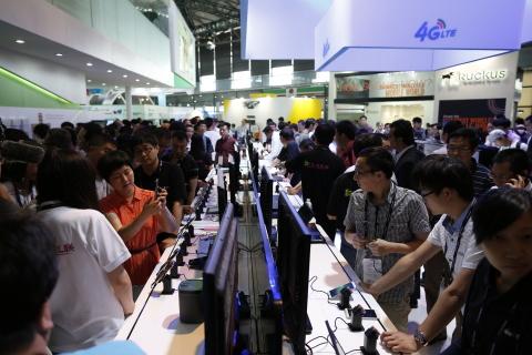 GSMA 2014年亞洲行動通信博覽會(照片:美國商業資訊