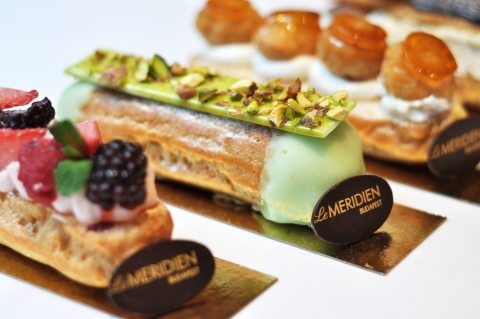 Destination inspired eclairs from Le Meridien Budapest. (Photo: Business Wire)
