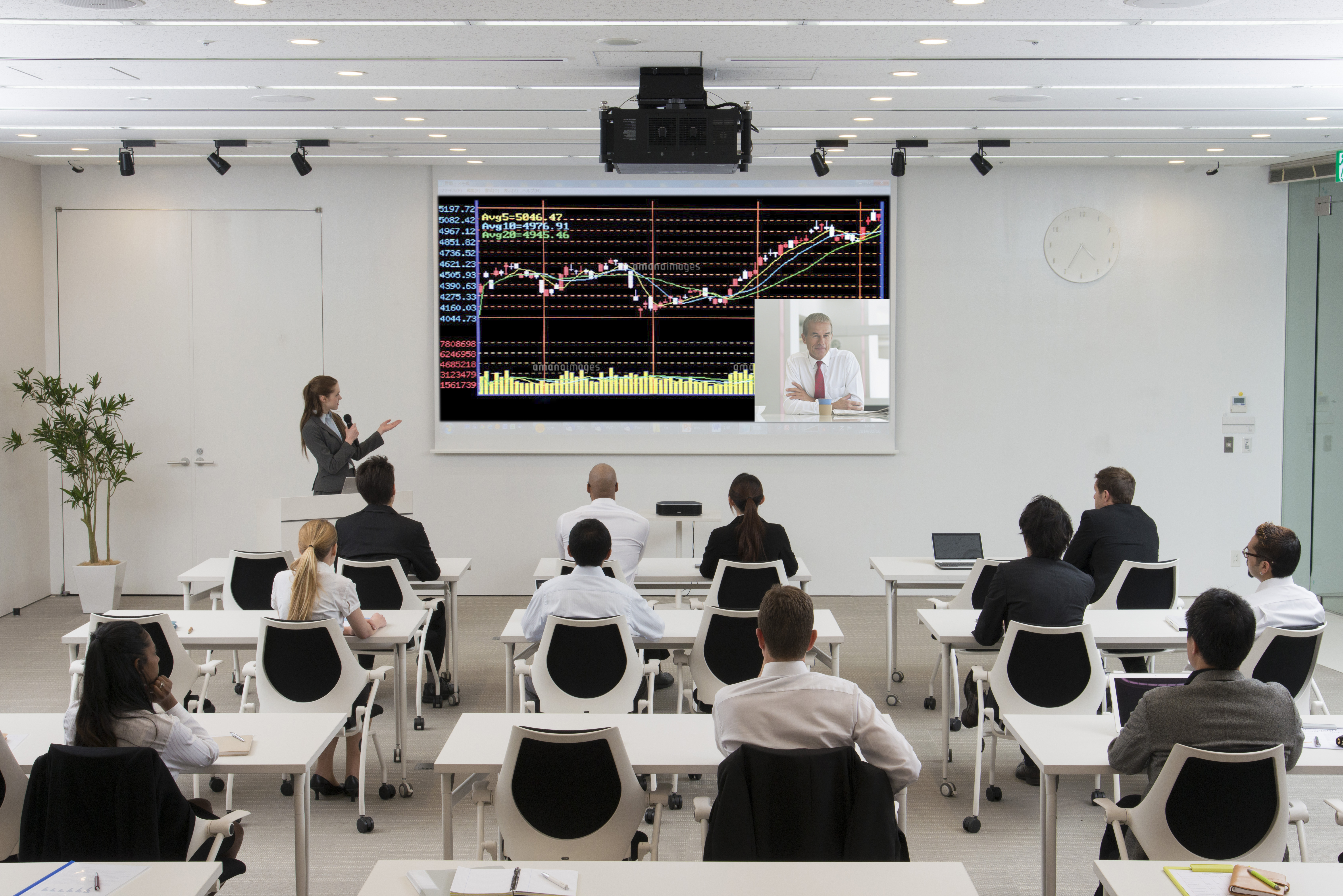 Users can use Yamaha YVC-1000 not only for remote conferencing, but also for lectures, and seminars. (Photo: Business Wire)