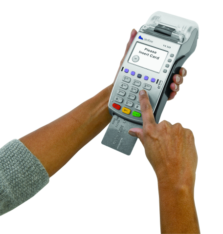 VeriFone's VX 520 advanced countertop payment device will be available to merchants in the Kingdom of Saudi Arabia. The VX 520 provides a full range of connectivity options, from dial and Ethernet to GPRS, with an optional battery for portability. (Photo: Business Wire)