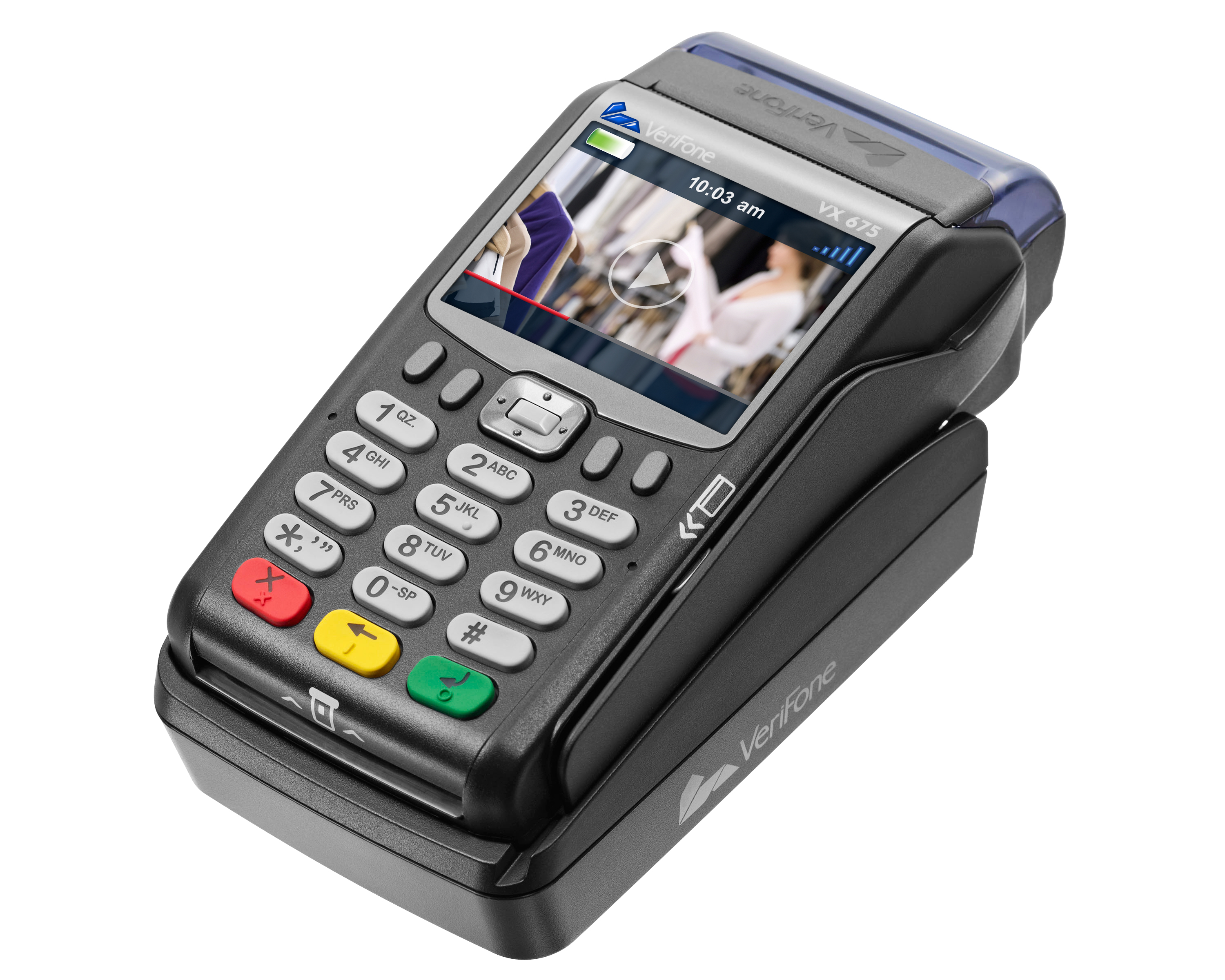 VeriFone's VX 675, which will be available to Saudi Arabia merchants through International Turnkey Systems Group (ITS), an integrated IT solutions and software services provider, is the world's smallest, full-function, wireless handheld payment device. (Photo: Business Wire)