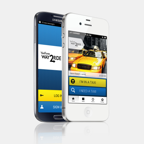 VeriFone's sound-based mobile app for proximity payments is now available for passenger use in 1,400 of the 1,600 taxis in Philadelphia. Available for iOS and Android, the award winning app makes it easy for riders to tap and pay even before the trip is finished. Digital receipts are immediately emailed to the passenger and stored in the app and online portal for easy access and expensing of business trips. (Photo: Business Wire)