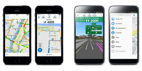 Garmin víago is a new premium navigation app for Android™ and iPhone® starting at $1.99. (Photo: Bus ...