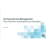See examples of the CA Cloud Service Management mobile-ready user interface, drag-and-drop workflows, in-app guidance and advanced reporting.