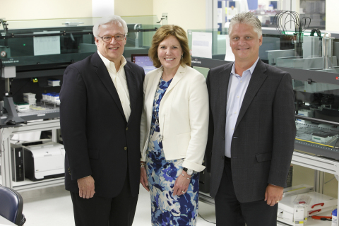 Assurex Health Leadership Team (from left to right): James Burns, Executive Chairman; Virginia (Gina) Drosos, President and Chief Executive Officer; and Donald Wright, Chief Operating Officer. (Photo: Business Wire)