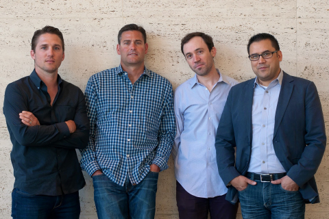 SIM Partners executives: (Left to Right) Neil Mahoney (SVP), Jon Schepke (CEO), Adam Dorfman (SVP) & Jay Hawkinson (SVP) (Photo: Business Wire)