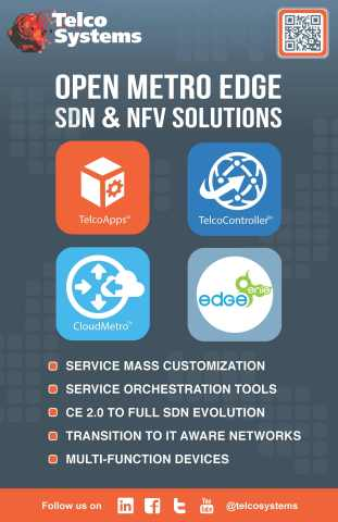 OME SDN & NFV Solutions Overview - TelcoApps; TelcoController; CloudMetrol; EdgeGenie (Graphic: Business Wire)