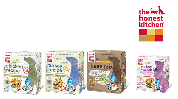 Assortment of The Honest Kitchen human grade pet food products (Photo: Business Wire).
