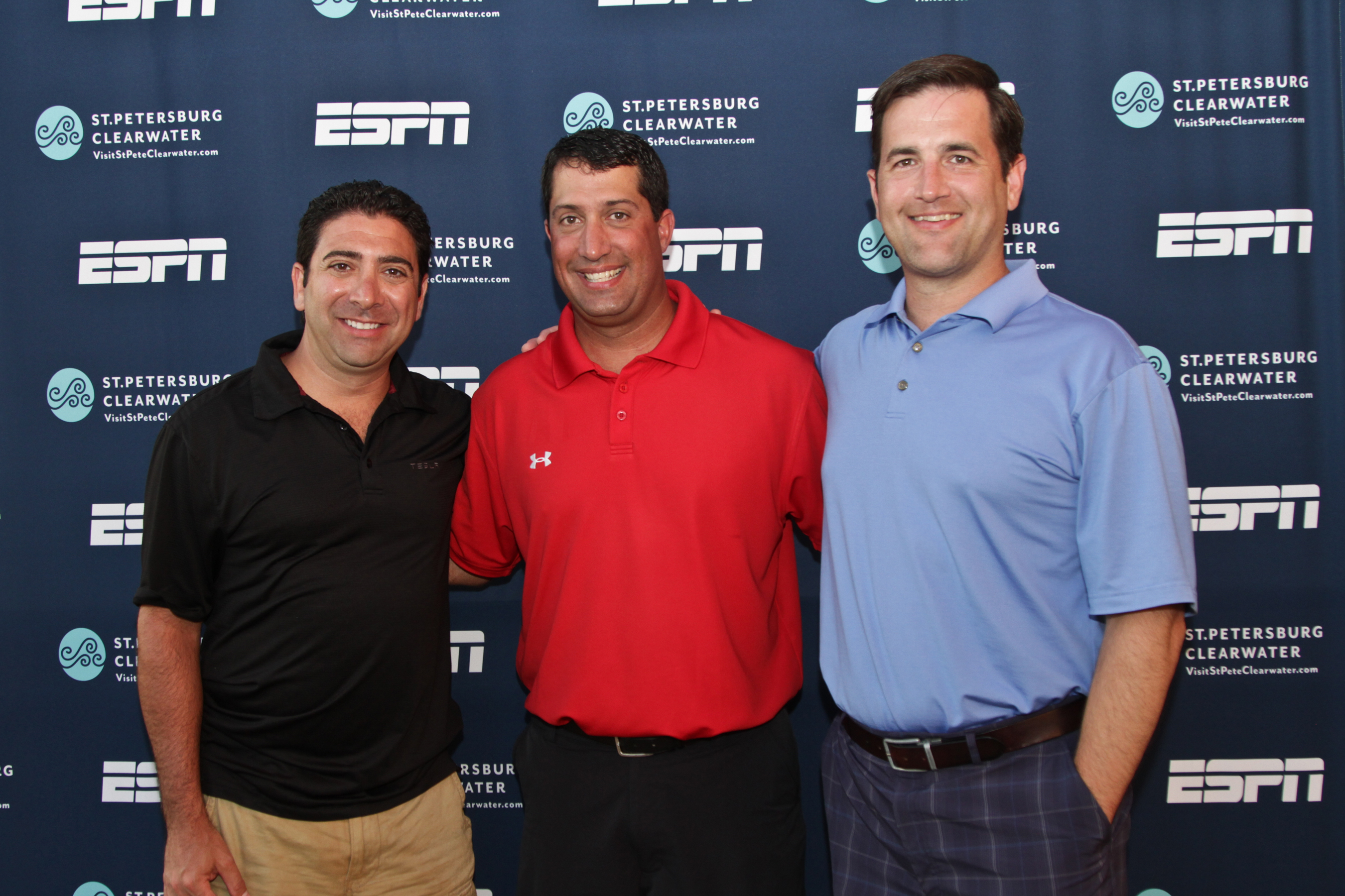 From left, Tony Gallippi (BitPay Executive Chairman), Brett Dulaney (Executive Director of the Bitcoin St. Petersburg Bowl) and Stephen Pair (BitPay CEO). (Photo: Business Wire)